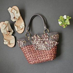 Aphorism Brown Basket Weave Style Purse